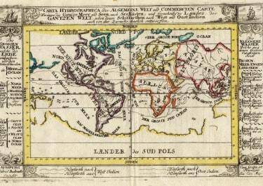 Carta Hydrographica oder Algemeine Welt und Commercien Carte