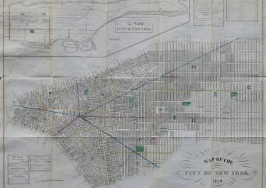 VALENTINE'S  MAP OF THE CITY OF NEW YORK 1850