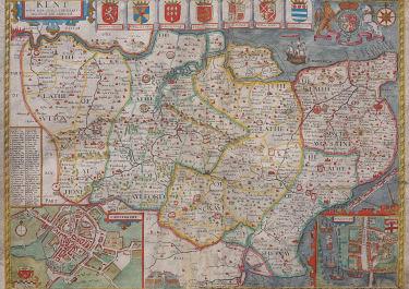 JOHN SPEED'S MAP OF KENT