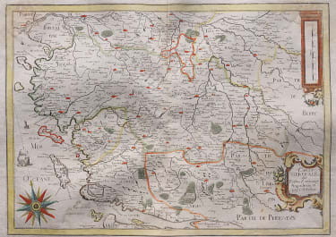 RARE TASSIN MAP OF POITOU