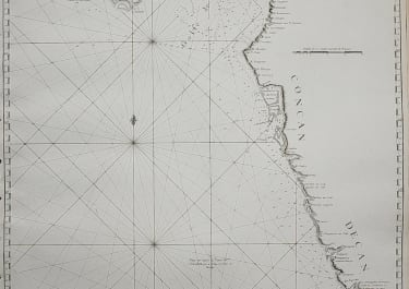 CHART OF THE WEST INDIAN COAST FROM SURAT  BOMBAY GOA