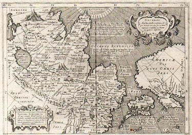 UNCOMMON MAP OF TARTARY JAPAN AND EARLY WEST COAST OF AMERICA