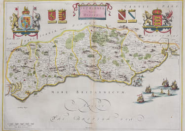 BLAEU'S MAP OF SUSSEX