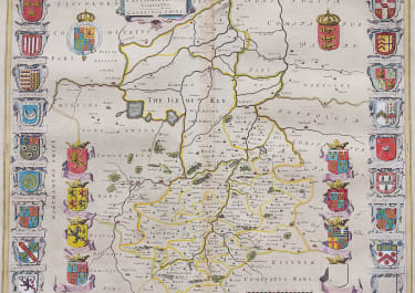 CAMBRIDGESHIRE MAP BY BLAEU