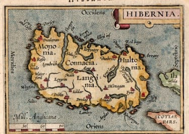 IRELAND FROM ORTELIUS EPITOME