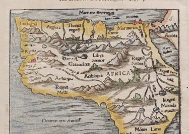 AFRICA FROM MUNSTER'S COSMOGRAPHIA