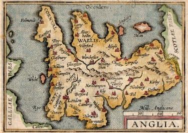 ENGLAND  BY ORTELIUS  EPITOME