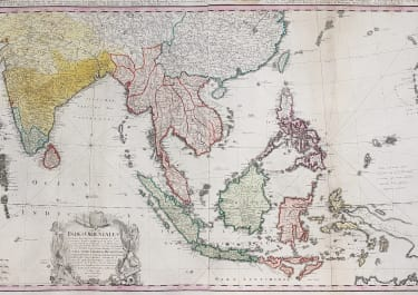 LARGE IMPORTANT MAP OF SOUTH ASIA BY HOMANN