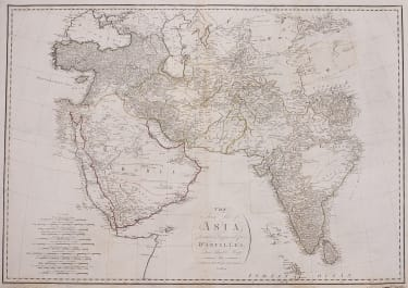 ARABIA   PERSIA  INDIA  TRADE  LARGE MAP
