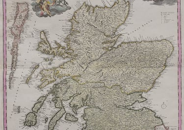 HOMANN'S CLASSIC MAP OF SCOTLAND