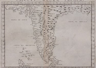 INDIA   EARLY RUSCELLI MAP
