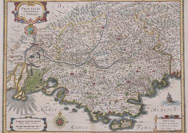PROVENCE   HONDIUS' DECORATIVE MAP