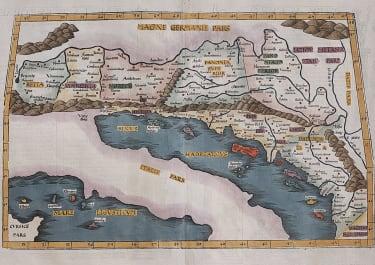 RARE MAP FRIES THE BALKANS
