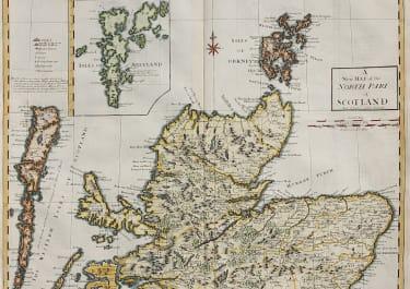MORDEN'S MAP OF NORTHERN SCOTLAND SHETLANDS ORKNEYS ETC