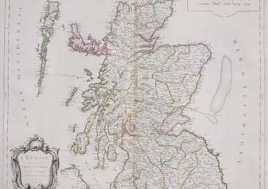 SANTINI'S MAP OF SCOTLAND