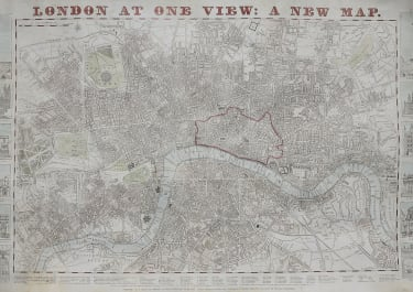 LONDON SCARCE  MAP BY G BIGGS