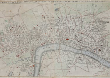 RARE MAP OF LONDON 1765 BY ANON