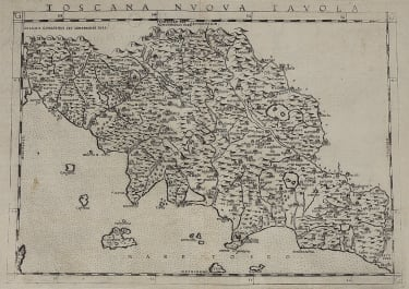 RUSCELLI'S  1561 MAP OF TUSCANY