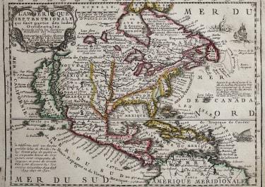 CHIQUET'S MAP OF NORTH AMERICA  CALIFORNIA ISLAND