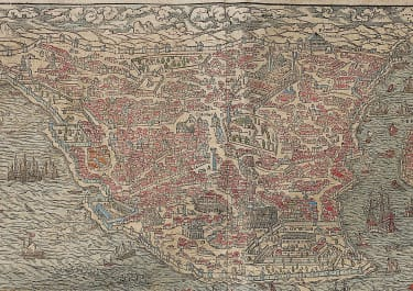 CONSTANTINOPLE  ISTANBUL  MUNSTER'S 1580 PANORAMA