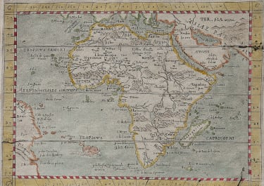 RARE   BOTERO MAP OF AFRICA