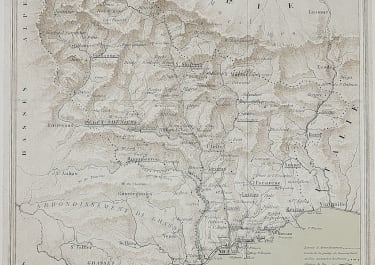 RARE MAP OF ALPES MARITIMES