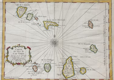BELLIN'S MAP OF THE CAP VERDE ISLANDS
