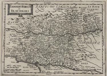 MERCATOR CLOPPENBERG MAP OF LYON & BEAUJOLAIS REGION