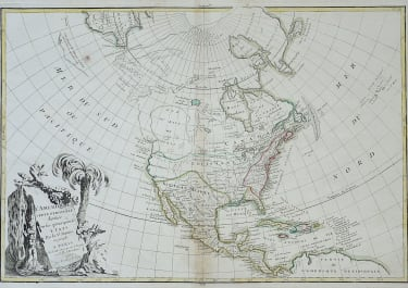 MAP OF NORTH AMERICA  MAP OF BAY OF THE WEST