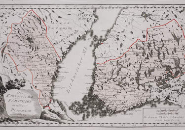 REILLY'S MAP OF FINLAND HELSINKI , PART OF SWEDEN