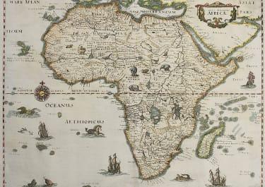 MERIAN'S DECORATIVE MAP OF AFRICA