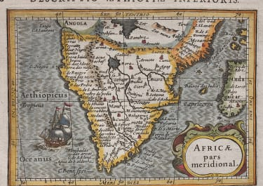 BERTIUS MAP OF SOUTHERN AFRICA