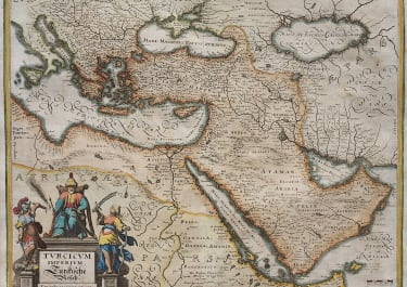 MERIAN'S MAP OF THE TURKISH EMPIRE 1640
