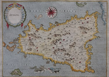 LASOR'S MAP OF SICILY