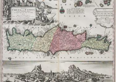 SEUTTER'S STUNNING MAP OF CRETE
