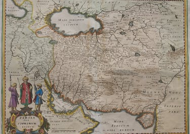 MERIAN'S MAP OF PERSIA