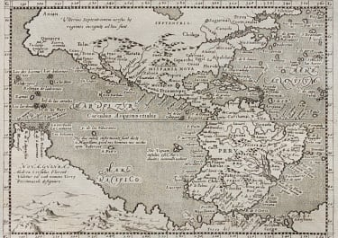 MAGINI'S RARE MAP OF THE AMERICAS