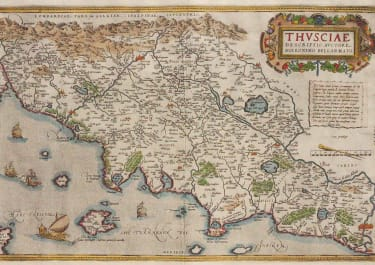 ORTELIUS' STUNNING MAP OF TUSCANY