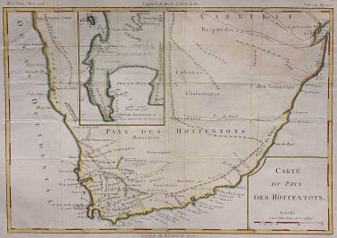 UNCOMMON MAP OF SOUTH AFRICA INSET THE CAPE OF GOOD HOPE