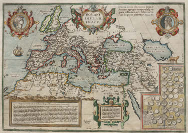 ORTELIUS MAP OF THE ROMAN EMPIRE