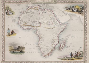 AFRICA MAP BY TALLIS