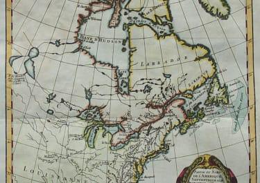 BONNE'S MAP OF EAST COAST OF AMERICA POLITICS & COMMERCE