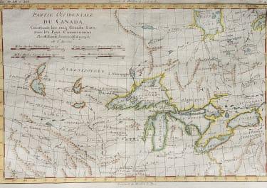 BONNE'S INTERESTING MAP OF GREAT LAKES REGION