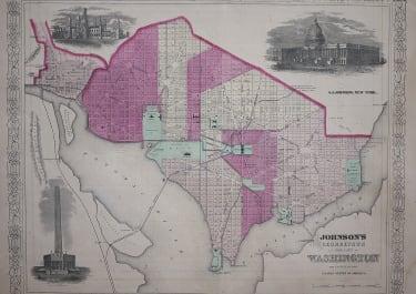 JOHNSON'S MAP OF WASHINGTON