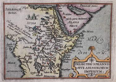 ORTELIUSV VRIENTS MINIATURE MAP OF EAST AFRICA