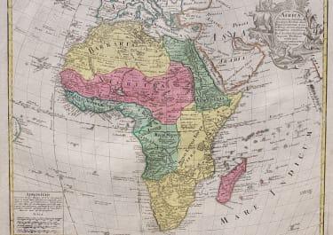 LOTTER'S  FOLIO MAP OF AFRICA ..ORIGINAL COLOUR