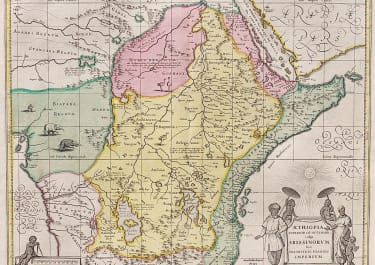 SHENK & VALK'S CENTRAL & EAST AFRICA  FULL ORIGINAL COLOUR.