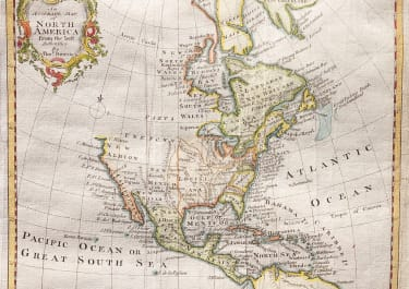 THOMAS BOWEN MAP OF NORTH AMERICA