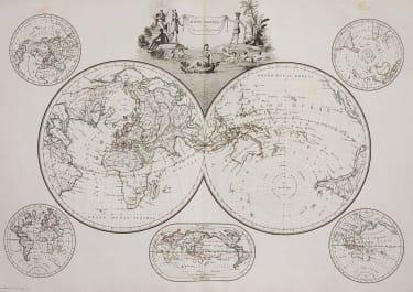 WORLD MAPPE-MONDE  IMPORTANT AUSTRALIA