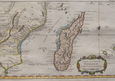 BELLIN'S UNCOMMON MAP OF MADAGASCAR